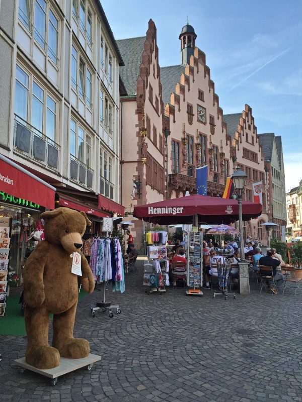 algumas horas em Frankfurt Römer lojas