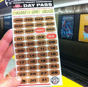 Day Pass do TTC