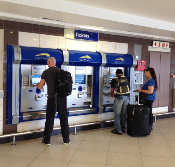 aeroporto  johannesburg ticket machine
