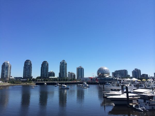 Vista do Science World em Vancouver