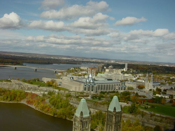Vista da Peace Tower em Ottawa