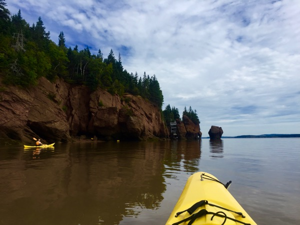 Kayak em Bay of Fundy, Canadá