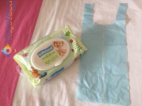 Sacos plásticos para descartar fraldas