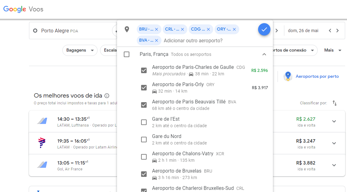 Google Flights como usar