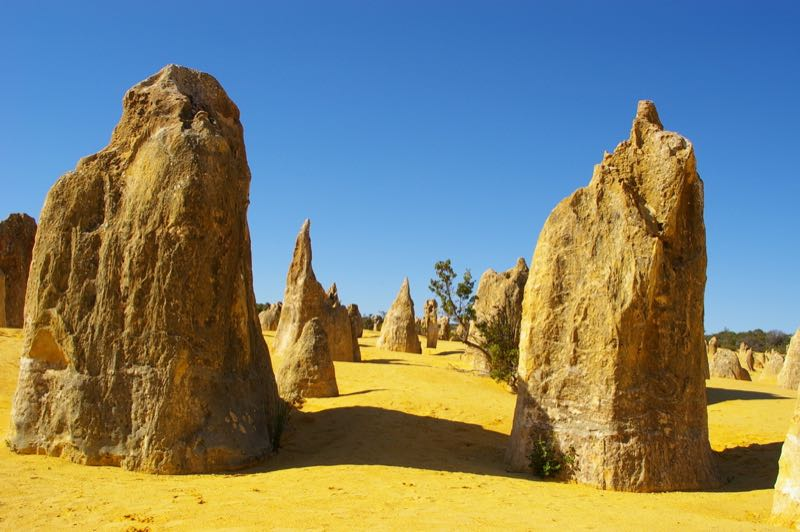 Pinnacles perto de Perth na Australia