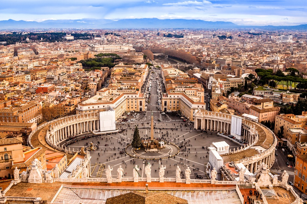 Vista do alto do Vaticano