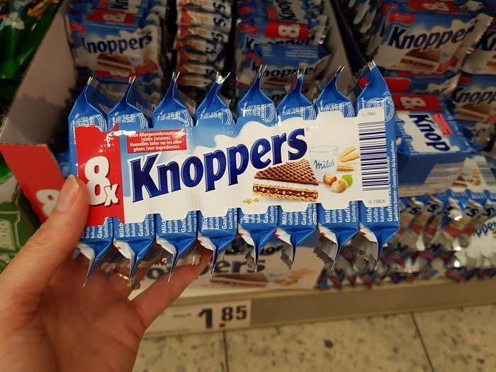 supermercado na Alemanha knoppers